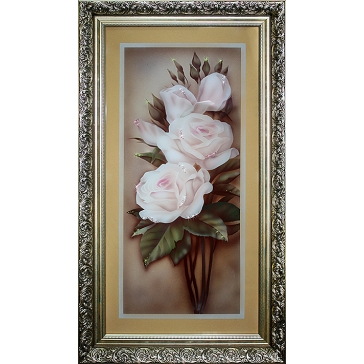 Картина Сваровски «Белые розы»