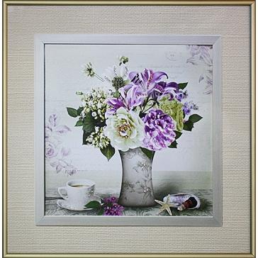 Картина Сваровски «Пионы в вазе»