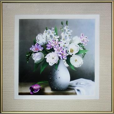 Картина Сваровски «Натюрморт с тюльпанами»