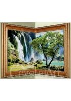 Угловая картина «Водопад»