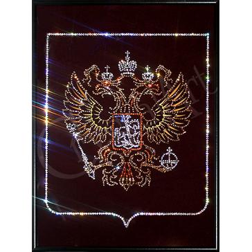 Картина с кристаллами Сваровски «Герб России», 30х40 см