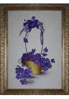 Картина «Фиалки в корзине»