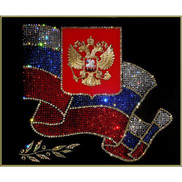 Картина Сваровски «Российская символика», 60х50 см