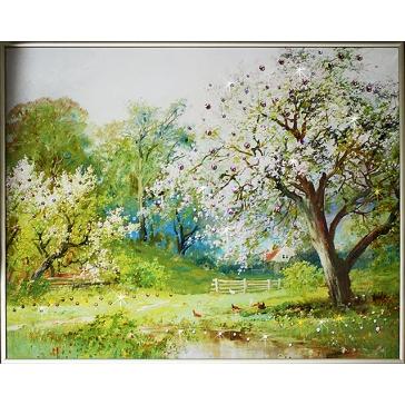 Картина Сваровски «Весенний сад»