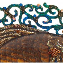 Дизайнерское настенное панно из монет «Денежная рыбка» или «Золотая рыбка»