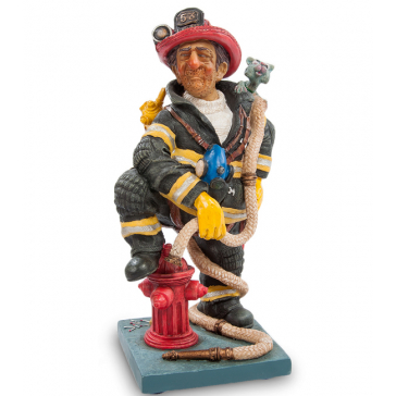 Авторская статуэтка Форчино «Пожарный», Франция