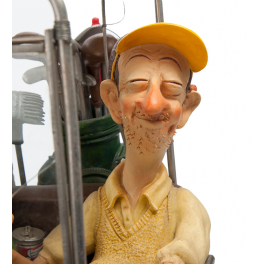 Оригинальная авторская статуэтка Форчино «Гольфкар»