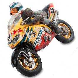 Авторская статуэтка Форчино «Мотогонщик», Франция
