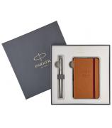Подарочный набор Parker: блокнот и шариковая ручка
