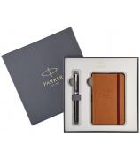 Подарочный набор Parker: блокнот и перьевая ручка