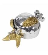 Сувенир «Гранат с золотым листочком»