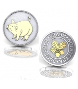 Серебряная монета «Здоровья, удачи, богатства»