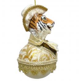 Елочное украшение ручной работы «Тигр в шляпе»