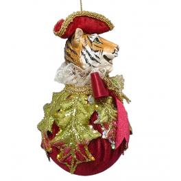 Елочное украшение «Тигр на шаре», ручная работа