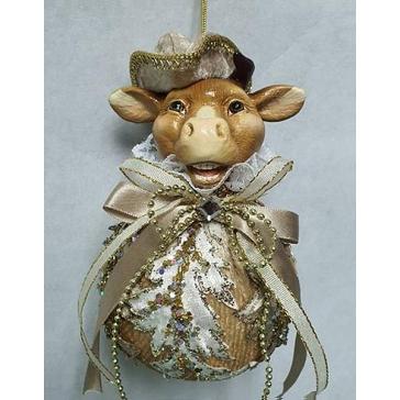 Елочное украшение «Бык в шляпе», новогодний подарок