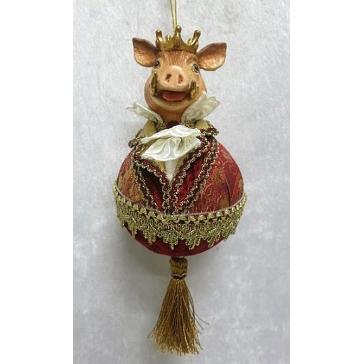 Елочное украшение ручной работы «Мистер Свин»