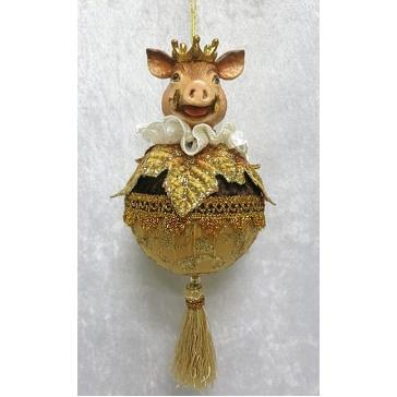 Елочное украшение ручной работы «Сэр Свин»