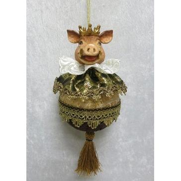 Елочное украшение «Сэр Свин», ручная работа