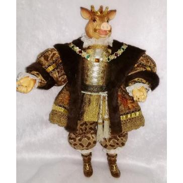 Коллекционная кукла «Король Свин»