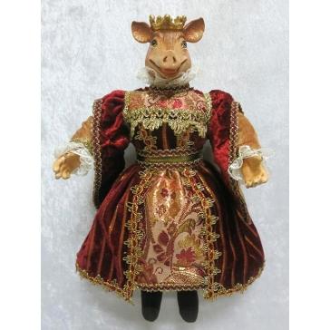 Коллекционная кукла «Принцесса Свинка», ручная работа