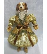 Новогодняя кукла собака «Леди»