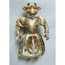 Коллекционная новогодняя кукла «Леди Корова»
