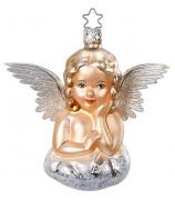 Ёлочная игрушка «Мечтающий ангелочек»