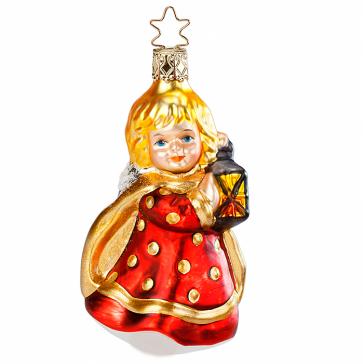 Стеклянная ёлочная игрушка «Рождественский ангелочек»