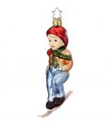 Ёлочная игрушка «Мальчик на лыжах»