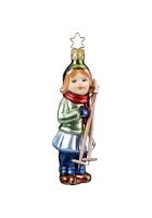 Ёлочная игрушка «Девочка с лыжными палками»