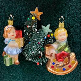 Стеклянная ёлочная игрушка «Верхом на коне-качалке»