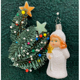 Стеклянная ёлочная игрушка «Накануне Рождества»