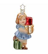 Ёлочная игрушка «Девочка с подарками»