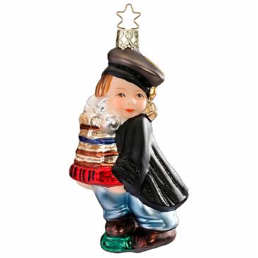 Стеклянная ёлочная игрушка «Выпускник»
