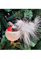 Ёлочная игрушка «Птичка в гнезде»