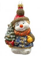 Ёлочная игрушка «Снеговик с ёлочкой»