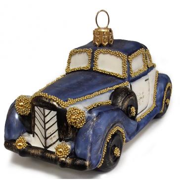 Стеклянная ёлочная игрушка «Роллс ройс», 12 х 5 см