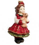 Ёлочная игрушка «Девочка с мишкой»