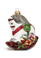 Ёлочная игрушка «Лошадка качалка»