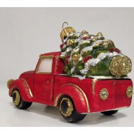 Стеклянная ёлочная игрушка «Рождественское авто», 11,5 х 6 см