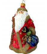 Ёлочная игрушка «Дед Мороз в красной шубе»