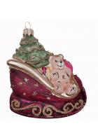 Ёлочная игрушка «Сани с подарками»