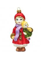 Ёлочная игрушка «Девочка с куклой»