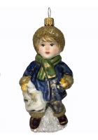 Ёлочная игрушка «Мальчик с коньками»
