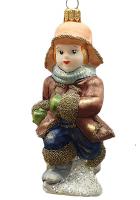 Ёлочная игрушка «Мальчик на коньках»