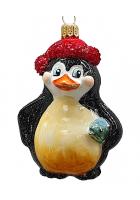 Ёлочная игрушка «Пингвин с рыбкой»