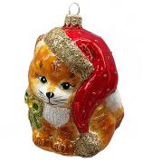 Ёлочная игрушка «Котёнок-Санта»