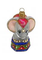 Ёлочная игрушка «Цирковой слоник»