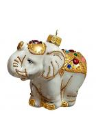 Ёлочная игрушка «Слон в нарядной попоне»