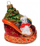 Ёлочная игрушка «Сани с новогодними подарками»